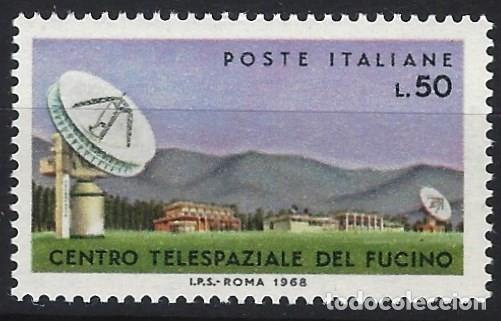 ITALIA 1968 - CENTRO DE COMUNICACIONES ESPACIALES EN FUCINO - MNH** (Sellos - Extranjero - Europa - Italia)