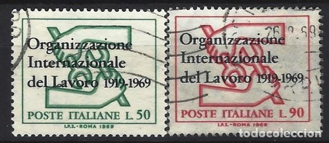 ITALIA 1969 - 50º ANIVERSARIO DE LA O.I.T., S.COMPLETA - USADOS (Sellos - Extranjero - Europa - Italia)