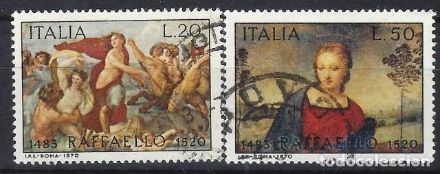 ITALIA 1970 - 450º ANIVERSARIO DE LA MUERTE DE RAFAEL, S.COMPLETA - USADOS (Sellos - Extranjero - Europa - Italia)