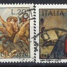 Sellos: ITALIA 1970 - 450º ANIVERSARIO DE LA MUERTE DE RAFAEL, S.COMPLETA - USADOS. Lote 220818662