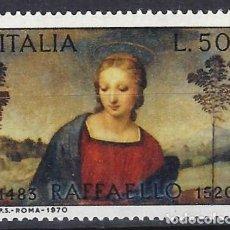 Sellos: ITALIA 1970 - 450º ANIVERSARIO DE LA MUERTE DE RAFAEL - MNH**. Lote 220818687