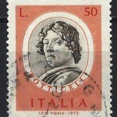 Francobolli: ITALIA 1973 - ARTISTAS FAMOSOS - USADO. Lote 220832790