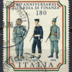 Sellos: ITALIA 1974 - UNIFORMES DEL SERVICIO DE ADUANAS ITALIANAS - USADO. Lote 220834788