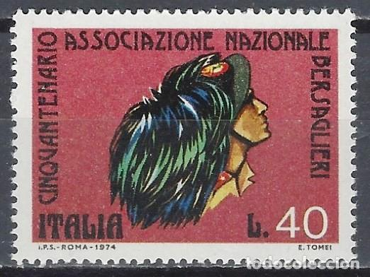 ITALIA 1974 - 50º ANIVERSARIO DE LA ASOCIACIÓN DE VETERANOS DE BERSAGLIERI - MNH** (Sellos - Extranjero - Europa - Italia)