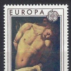 Sellos: ITALIA 1975 - EUROPA, CUADROS - MNH**. Lote 220838946