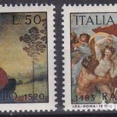 Sellos: LOTE DE SELLOS NUEVOS - ITALIA - PINTURA - RAFAEL (AHORRA EN PORTES, COMPRA MAS). Lote 221412736