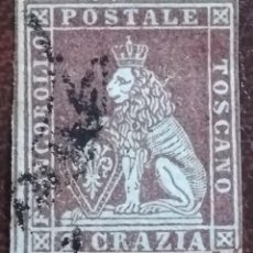 Sellos: SELLO FRANCOBOLLO TOSCANO 2 CRAZIA, AÑO 1851. ITALIA. Lote 222251395