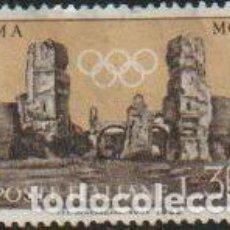 Timbres: ITALIA 1959 SCOTT 775 SELLO ** OLIMPIADAS ROMA TERMAS DE CARACALLA MICHEL 1041 YVERT 790 PREOLIMPICA. Lote 195897725