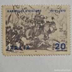 Sellos: ITALIA. SELLO USADO DE 90C, DE 1970. GARIBALDI. ENVÍO GRATIS POR PEDIDOS DE 3€ O MÁS.. Lote 231285925