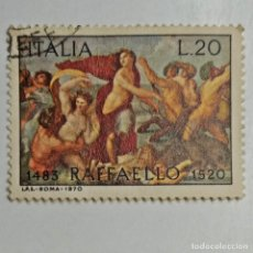 Sellos: ITALIA. SELLO USADO DE 20 L, 1970. RAFFAELLO. ENVÍO GRATIS POR PEDIDOS DE 3€ O MÁS.. Lote 231644355
