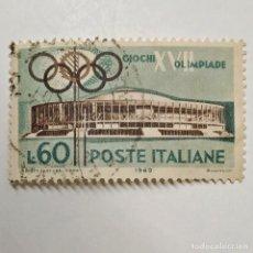 Sellos: ITALIA. SELLO USADO DE 60 L, 1960. XVII OLIMPIADE ROME. ENVÍO GRATIS POR PEDIDOS DE 3€ O MÁS.. Lote 231648735