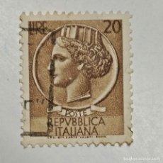 Sellos: ITALIA. SELLO USADO DE 20 LIRE, 1953. SYRACUSEAN COIN. ENVÍO GRATIS POR PEDIDOS DE 3€ O MÁS.. Lote 231655020
