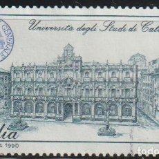 Timbres: ITALIA 1990 SCOTT 1825 SELLO º LICEO GINNASIO B. TELESIO E UNIVERSITÀ DEGLI STUDI DI CATANIA MI 2164. Lote 112881330