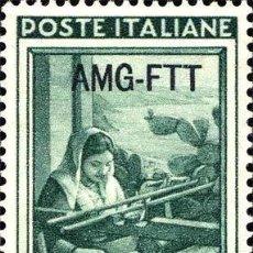 Sellos: FRANCOBOLLO - TRIESTE - ITALY AT WORK - 10 L - 1950 - USATO. Lote 235316120