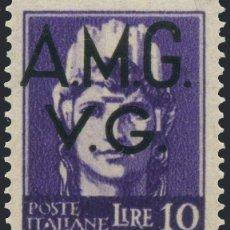 Sellos: FRANCOBOLLO - TRIESTE - ALLIED OCCUPATION OF VENETIA GIULIA - 10 L - 1945 -NUOVO LING. Lote 235316135