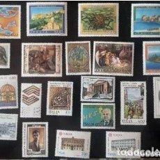 Sellos: LOTE DE SELLOS NUEVOS ITALIA AÑO 1990. Lote 235799970