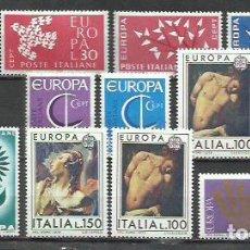 Sellos: R35A-LOTE SELLOS ITALIA SERIES COMPLETAS EUROPA NUEVAS MNH**. Lote 235932740