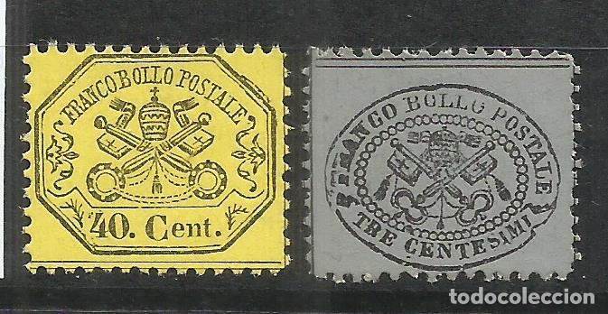 6151- SELLOS CLASICOS ESTADO IGLESIA VATICANO 1868 Nº 24/5 SIN GOMA 18,00€,VEA (Sellos - Extranjero - Europa - Italia)