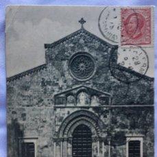 Sellos: POSTAL CHIESA DE S. FRANCESCO PALERMO SELLO REY UMBERTO 10 CENTIMOS. Lote 236053565