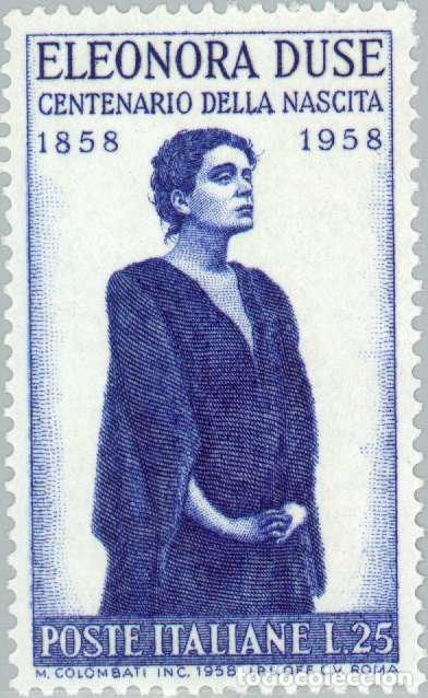 CENTENARY OF THE BIRTH OF ACTRESS ELEONORA DUSE (Sellos - Extranjero - Europa - Italia)