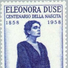 Sellos: CENTENARY OF THE BIRTH OF ACTRESS ELEONORA DUSE. Lote 236582735