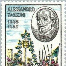 Sellos: FRANCOBOLLO - REP. ITALIA - ALESSANDRO TASSONI - 40 L - 1965 - USATO. Lote 236582760
