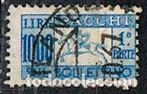 ITALIA, PAQUETE POSTAL IVERT Nº 67, CORREO A CABALLO, USADO (Sellos - Extranjero - Europa - Italia)