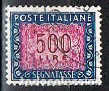 ITALIA, SELLO DE TASA-IVERT Nº 78 (AÑO 1.947-54), USADO (Sellos - Extranjero - Europa - Italia)