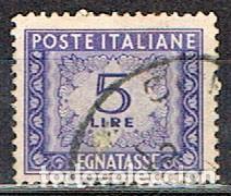 ITALIA, SELLO DE TASA-IVERT Nº 69 (AÑO 1.947-54), USADO (Sellos - Extranjero - Europa - Italia)