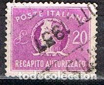 ITALIA, URGENTE IVERT Nº 37, ALEGORIA DE ITALIA, USADO (Sellos - Extranjero - Europa - Italia)