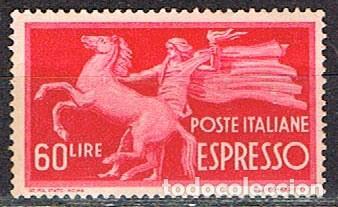 ITALIA, URGENTE IVERT Nº 32, PORTE-FLAMBEAU,NUEVO SIN SEÑAL DE CHARNELA (Sellos - Extranjero - Europa - Italia)