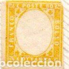 Sellos: ITALIA, VICTOR MANUEL II, 5 CÉNTIMOS, NUEVO SIN GOMA. Lote 238312560