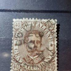 Sellos: (ITALIA)(1889) 40 CENTESIMI UMBERTO I. Lote 240956710