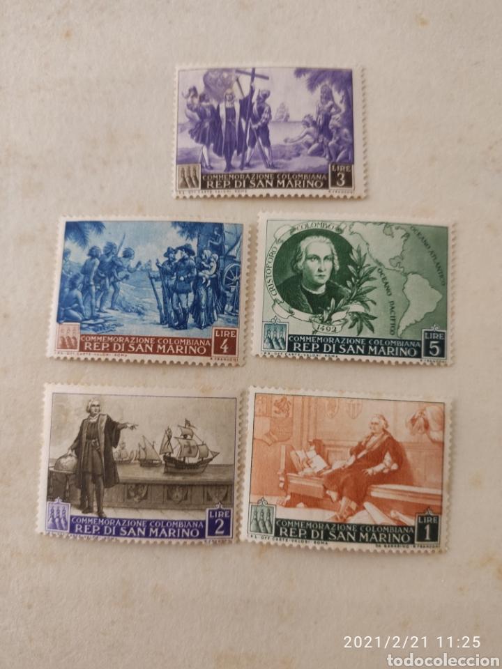 SELLOS SAN MARINO 1492 COLUMBUS DISCOVERY OF AMERICA STAMPS MNH (Sellos - Extranjero - Europa - Italia)