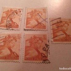 Sellos: 5 SELLOS 5 LIRE LIRAS ITALIA POSTE ITALIANE SELLADOS. Lote 243334300