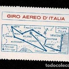 Sellos: CL8-7 VIÑETA GIRO EREO D'ITALIA SIN FIJASELLOS. Lote 243980500