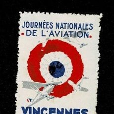Sellos: CL8-7 VIÑETA JOURNEES NATIONALES DE L'AVIATION - VINCENNES 24 & 25 MAI 1931 SIN FIJASELLOS. Lote 243981975