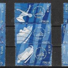 Sellos: SELLOS USADOS DE ITALIA 2006, YT 2832/ 40, FOTO ORIGINAL. Lote 243986020