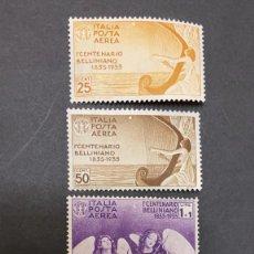 Sellos: O) 1935 ITALIA, VINCENZO BELLINI, COMPOSITOR OPERATICO, ARPA DE MUSEO, DIRECCIÓN ANGELICA PARA BELLI. Lote 244545930