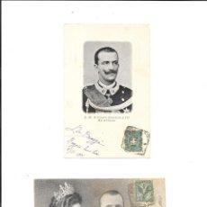 Sellos: ITALIA NUEVE TARJETAS POSTALES CIRCULADAS CON SELLO ESCRITAS EN 1901 Y 1902. Lote 245508950
