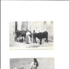 Sellos: ITALIA DOS TARJETAS POSTALES ESCENAS COSTUMBRISTAS CIRCULADAS EN 1910. Lote 245509010