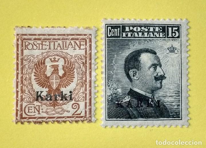 ITALIA, SELLOS POSTALES DE KARKI 1912 (Sellos - Extranjero - Europa - Italia)