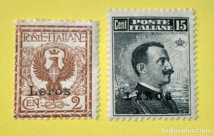 ITALIA, SELLOS POSTALES DE LEROS 1912 (Sellos - Extranjero - Europa - Italia)