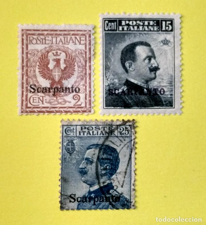 ITALIA, SELLOS POSTALES DE SCARPANTO 1912 (Sellos - Extranjero - Europa - Italia)