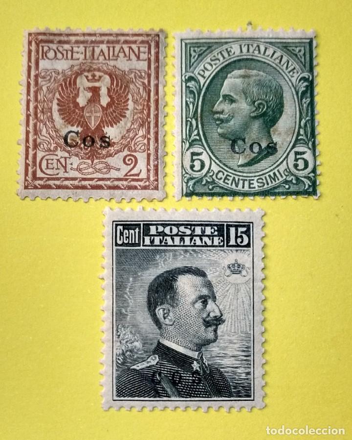 ITALIA, SELLOS POSTALES DE COS 1912 (Sellos - Extranjero - Europa - Italia)