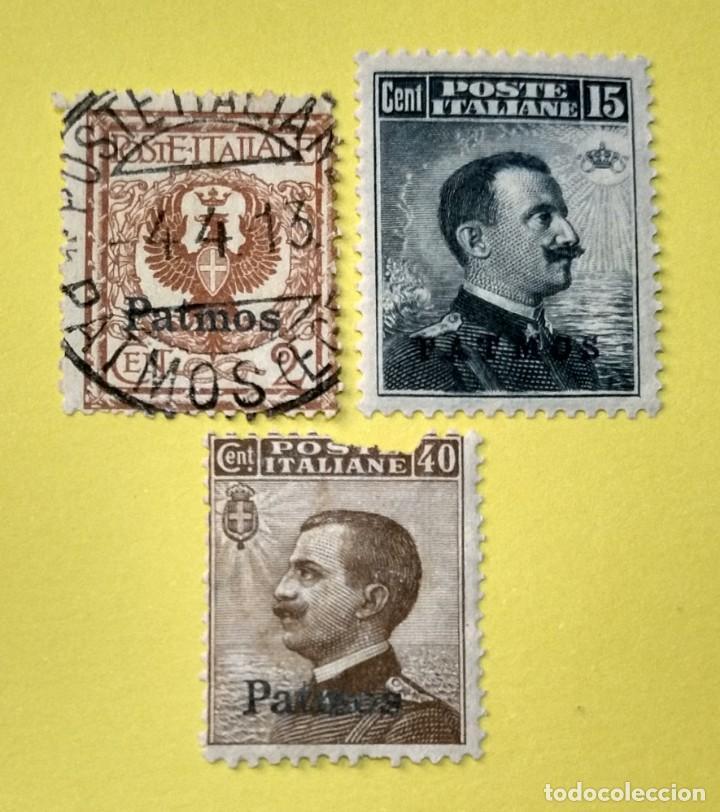 ITALIA, SELLOS POSTALES DE PATMOS 1912 (Sellos - Extranjero - Europa - Italia)