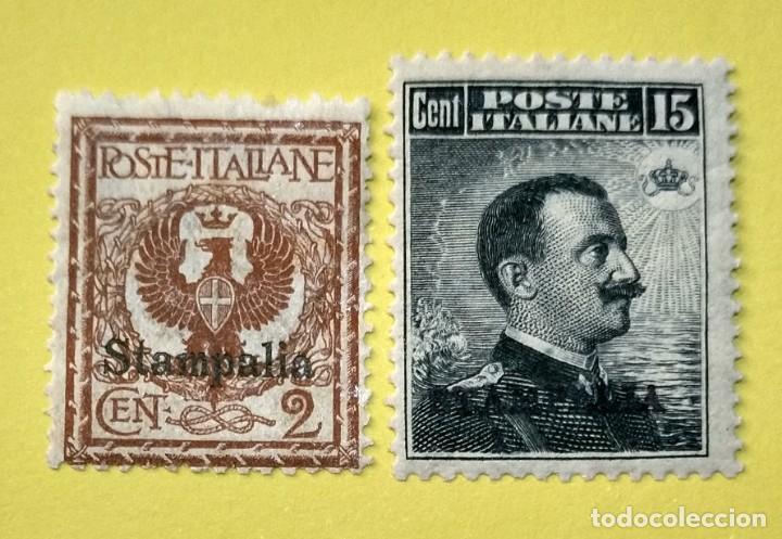 ITALIA, SELLOS POSTALES DE STAMPALIA 1912 (Sellos - Extranjero - Europa - Italia)
