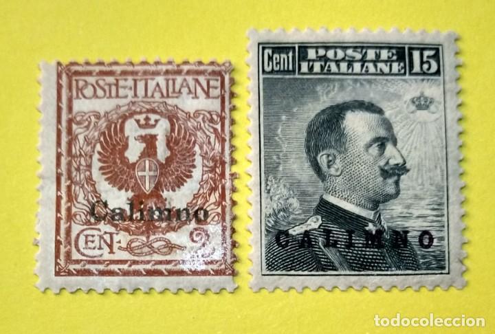 ITALIA, SELLOS POSTALES DE CALIMNO 1912 (Sellos - Extranjero - Europa - Italia)