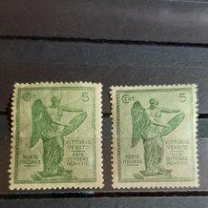 Sellos: (ITALIA)(1921)(SCOTT#136) DOS SELLOS DE 5 CENT VICTORIA VITTORIO VENETO. Lote 248362660