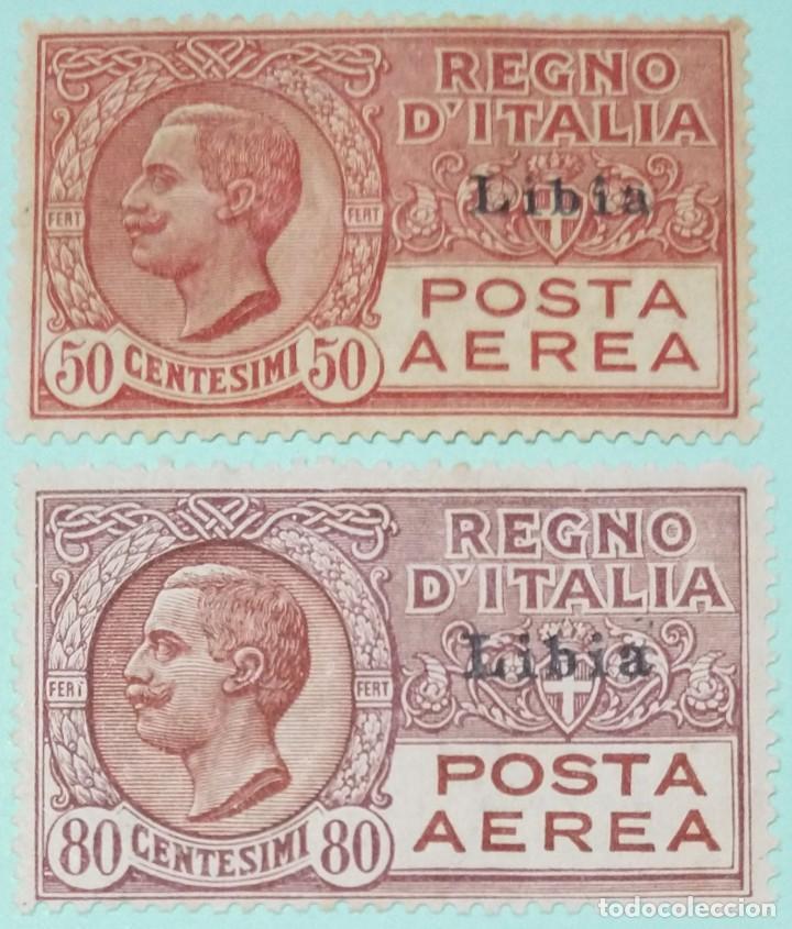 ITALIA SELLOS POSTALES AEREOS DE LIBIA 1928 TIPO DE CORREO AÉREO LEONI (Sellos - Extranjero - Europa - Italia)